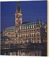 Hamburg City Hall Wood Print by Benjamin Matthijs