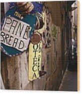 Hamburger Alley Wood Print