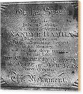 Hamilton: Pamphlet, 1797 Wood Print