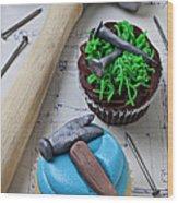 Hammer Cupcake Wood Print