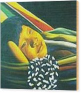 Hammock Child Wood Print by Unique Consignment