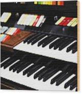 Hammond Electric Organ Wood Print