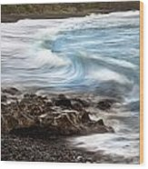 Hana Wave Wood Print