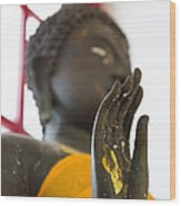 Hand Of Buddha Statue Wood Print