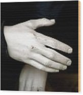 Hand Practice Wood Print