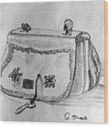 Handbag Wood Print