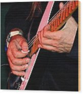 Sun In The Hands And Guitar Of Uli Jon Roth Wood Print