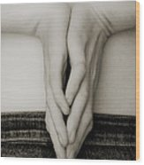 Hands And Jeans Wood Print