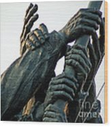 Hands Of Iwo Jima Wood Print