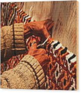 Hands Of The Carpet Weaver Wood Print