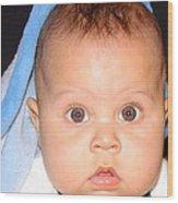 Handsome Baby Boy Wood Print