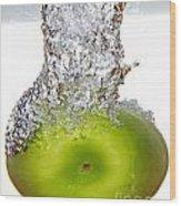 Handy Green Apple Wood Print