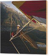 Hang Glider Over Telluride, Colorado Wood Print
