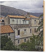 Hanging Out To Dry In Dubrovnik 1 Wood Print