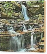 Hanging Rock Cascades Wood Print