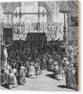 Hannukah Celebration, 1880 Wood Print