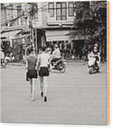 Hanoi Girls Wood Print