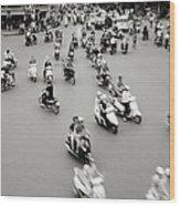 Hanoi Traffic Wood Print