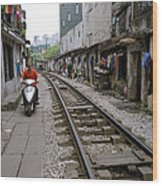 Hanoi Train Tracks Wood Print