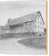 Hanover Barn 1 Wood Print by Carl Muller