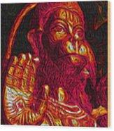 Hanuman The Monkey King Wood Print by Naresh Ladhu