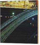 Hapenny Bridge, Dublin City, Co Dublin Wood Print