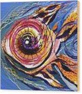 Happified Swirl Fish Wood Print
