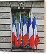 Happy Bastille Day Wood Print