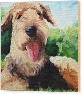 Happy Dale Wood Print