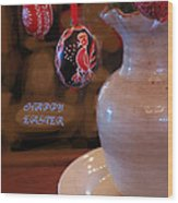 Happy Easter Poster Wood Print