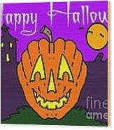 Happy Halloween 2 Wood Print