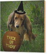 Happy Halloween Wood Print by Victoria Sheldon