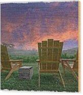 Happy Hour Wood Print by Debra and Dave Vanderlaan