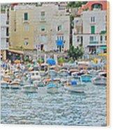 Harbor At Isle Of Capri Wood Print