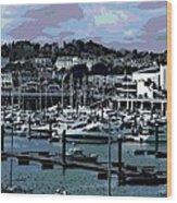 Harbor At Torquay Wood Print