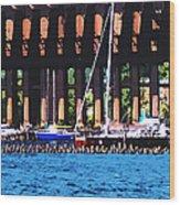Harbor Docks Wood Print