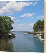 Harbor Home Maine Wood Print