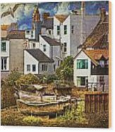 Harbor Houses Wood Print