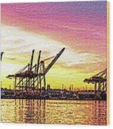 Harbor Island Sunrise Wood Print