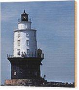 Harbor Of Refuge Lighthouse Wood Print