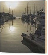 Harbor Sunset Wood Print