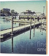 Harbor Time Wood Print