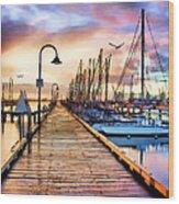 Harbor Town Wood Print