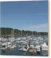 Harbour And Boats Wood Print