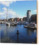 Harbour Fishermen  Wood Print