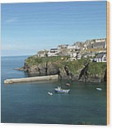 Harbour In Port Isaac, Cornwall Wood Print