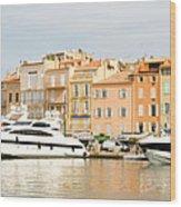 Harbour, St. Tropez, Cote D'azur, France Wood Print
