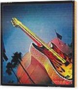 Hard Rock Guitar Wood Print