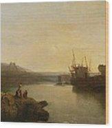 Harlech Castle - From Twgwyn Ferry Wood Print