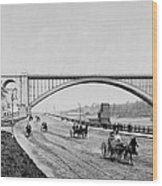 Harlem River Speedway Scene Beneath The George Washington Bridge Wood Print